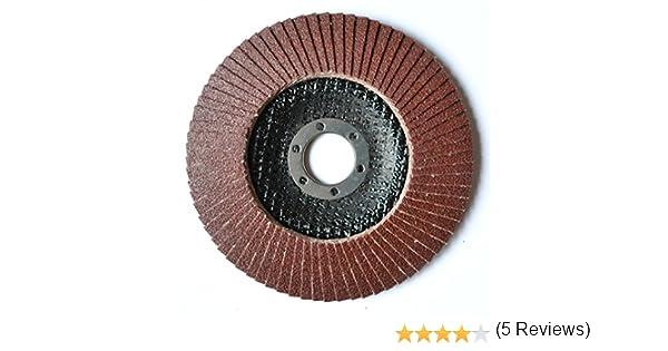 2/compartimiento de St. Set Discos /Ø 115/mm, grano P120/Muelas abrasivas color marr/ón Flap Disco para amoladora angular Platos lijadores de lija
