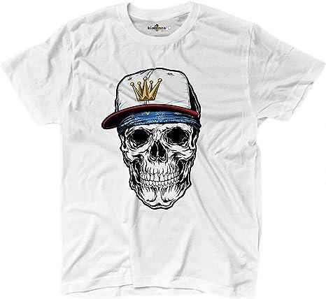 KiarenzaFD - Camiseta Camiseta Calavera Rap Skull King Corona Old School Grunge, KTS02236-XXL-white, Blanco, XX-Large: Amazon.es: Deportes y aire libre