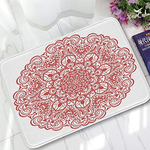 YOLIYANA Custom Carpet,Red Mandala,for Children Bedroom Corridor,15.75
