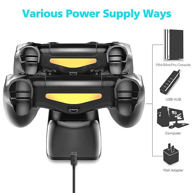 Amazon.com: DOBE cargador de driver de PS4, DOBE estación de ...