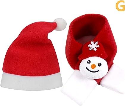 Bonnet De Noel Pour Chat QKURT Costumes de Noël pour Animaux de Compagnie, écharpe pour