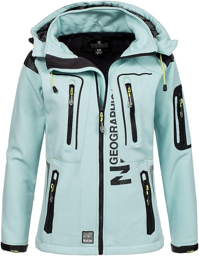 Geographical Norway/ /Chaqueta para mujer tejido softshell tassion capucha cuello alto