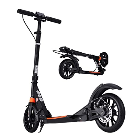 Amazon.com : Black Adult Scooter - Disc Brakes, Foldable ...