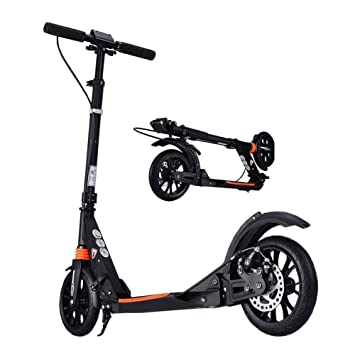 Amazon.com : Black Adult Scooter - Disc Brakes, Foldable ...