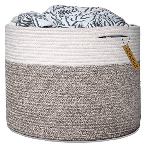 - Goodpick Large Cotton Rope Basket 15.8
