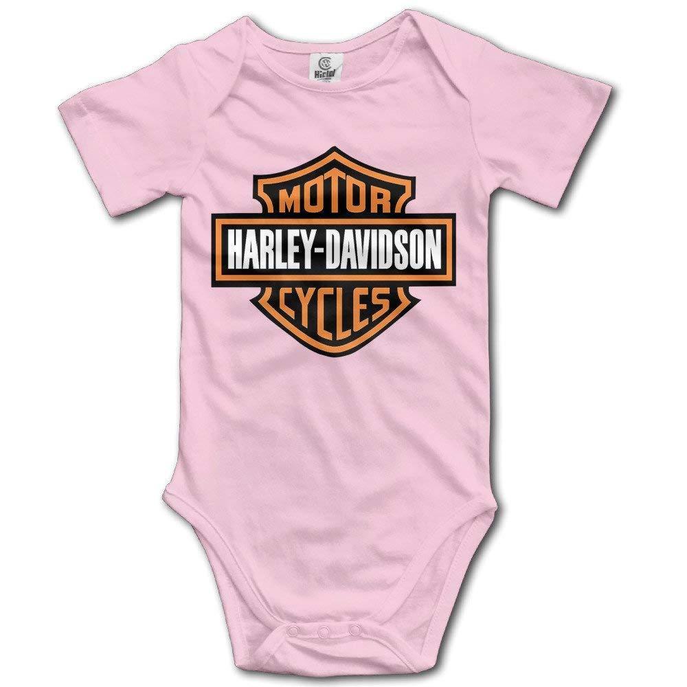 Harley Davidson Combinaison Combi-Short /à Manches Courtes et Logo pour b/éb/é
