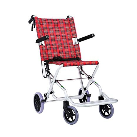 Amazon.com: YE ZI silla de ruedas pequeña, plegable, ligera ...