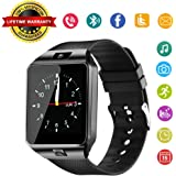 DZ09 Bluetooth Smart Watch - WJPILIS Upgraded Touchscreen Sport Smart Wrist Watch Fitness Tracker Support SIM TF Card With Camera Pedometer for IOS iPhone Android Samsung LG Men Women Kids (Black)