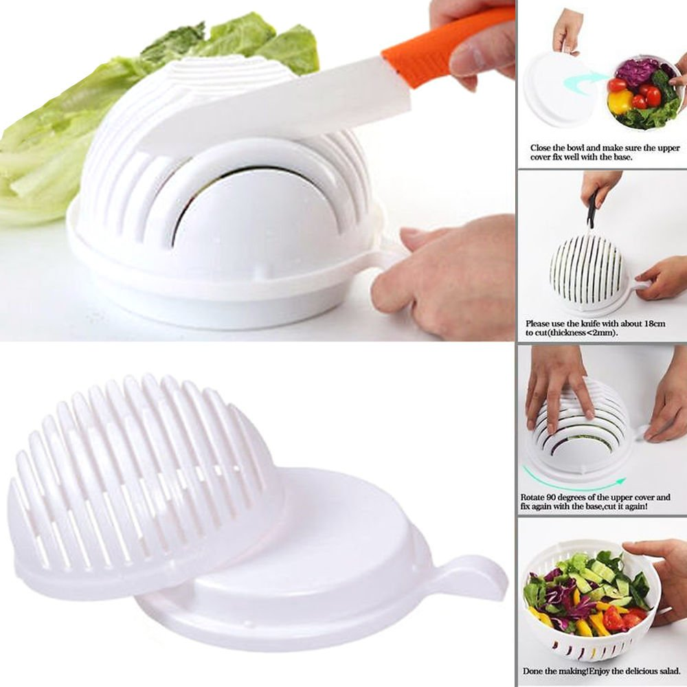 Compra Q4U® Hot Salad Cutter Bowl 60 Second Easy Make Salad ...
