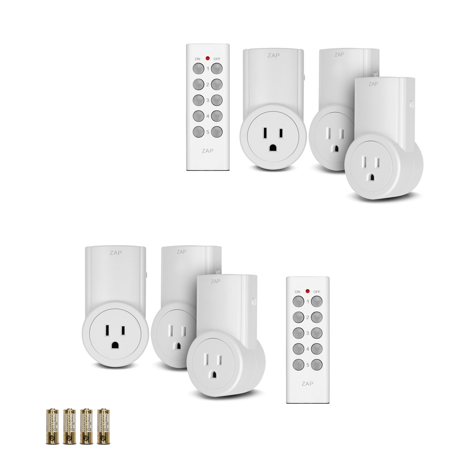 Etekcity® 2x 3 Pack (6 Outlets) Wireless Remote Control Outlet Plug Auto-programmable Function Light Switch (Extra Batteries included) Newest/smaller version with a 100ft range. Works through doors, floors and walls. Great for the immobile (elderly, peop