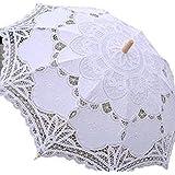 プレクラースナ レディース 日傘 レース刺繍 白