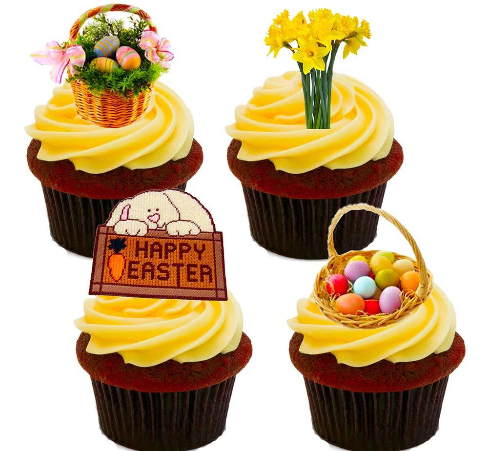 Happy Easter Mix, decoración para tartas stand-up oblea comestible ...