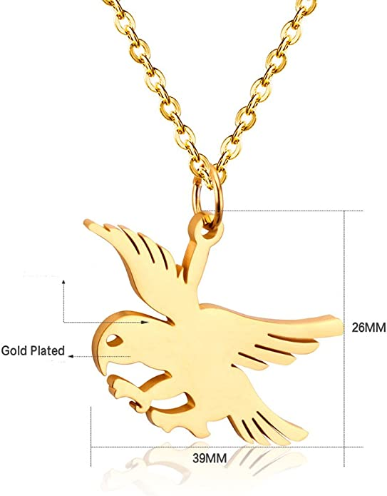 Silver Yellow Plated Eagle Charm 23mm