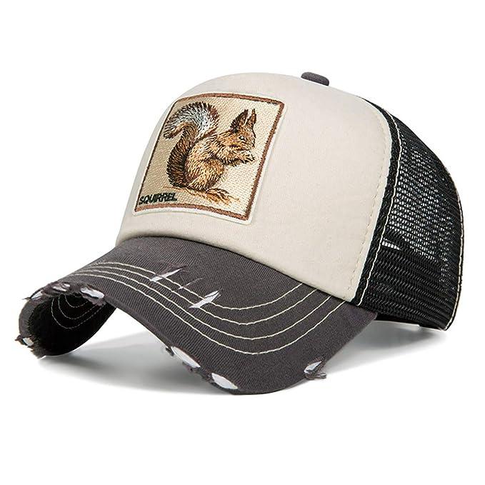Evrfelan de moda de malla gorra de béisbol Unisex animales tapas las mujeres y los hombres del casquillo del Snapback sombrero de papá verano hueso ...