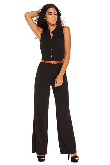 feda849137 Boldgal Girl s Sleeveless Mini Belted Jumpsuit (Black Large)  Amazon ...