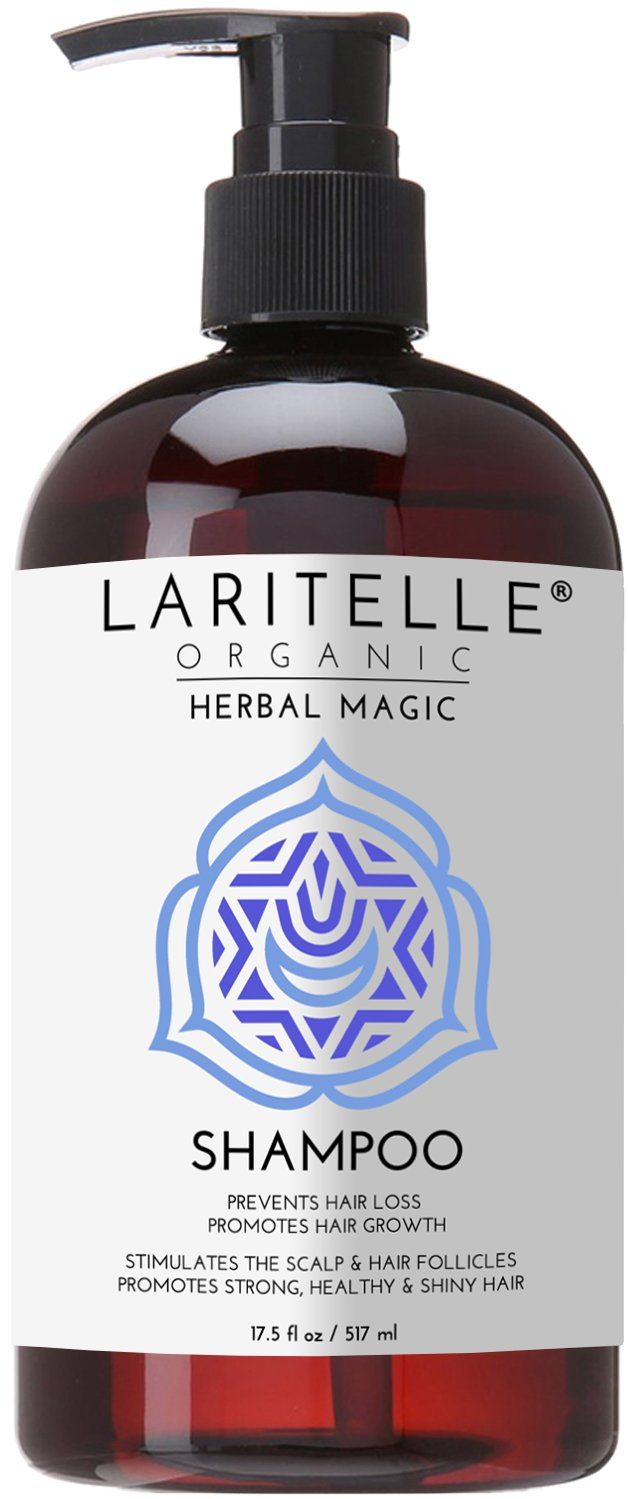 Laritelle Organic Travel Size Shampoo 2 oz | Hair Loss Prevention, Clarifying, Strengthening, Follicle Stimulating | Argan Oil, Rosemary & Palmarosa | NO GMO, Sulfate, Alcohol, Paraben, Phthalate | GF