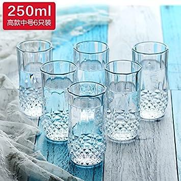 ZBZQ-Vidrio de botella de whisky, cerveza, copa de vino, el espíritu clásico de copa, vaso de agua, jugo copa, casa 6 palos,330ml, 6: Amazon.es: Hogar