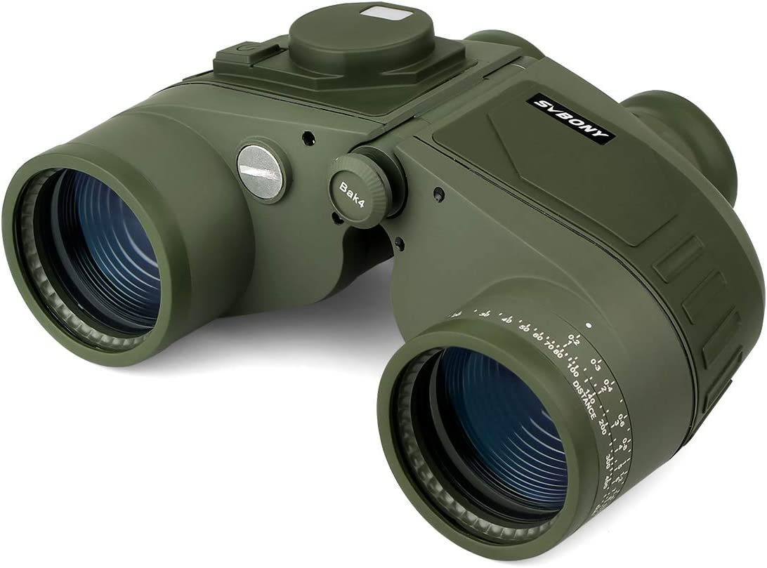 Svbony SV27 Prismaticos Nauticos 7x50 Rango Brújula Marino Impermeable Binoculares HD Óptica FMC Prisma BAK4 PrismáticosPotentes para Navegación Observación de Aves y Caza