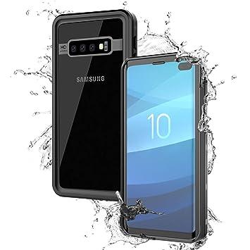 BasicStock Funda Impermeable Samsung Galaxy S10 Plus, [Anti-rasguños][Protección de 360 Grados], Carcasa con Protector de Pantalla para Samsung Galaxy ...