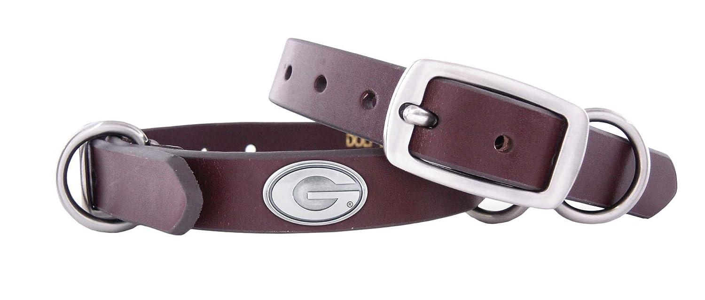 ZEP-PRO Georgia Bulldogs Brown Leather Concho Dog Collar X-Large