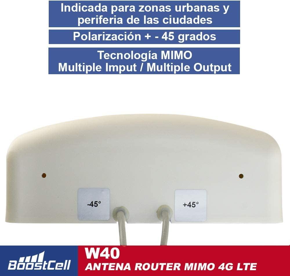 BOOSTCELL Antena 4G LTE Router MIMO para Zonas de Mala Cobertura. (5M Cable)