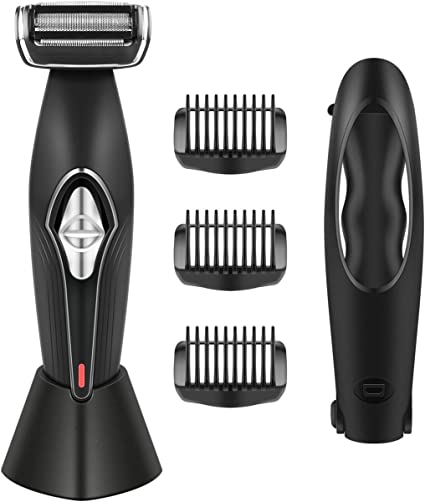 Amazon Com Suprent Body Groomer For Men Back Shavers With Long Convenient Handle Wet Or Dry Use Showerproof Dual Sided Trimmer 4d Pivoting Head With Charging Dock Design Health Personal Care