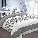 Hendem Owls Duvet Cover With Pillow Case Modern Bedroom Reversible Quilt Cover Animal Print Bed Linen (Single, Owls Black)
