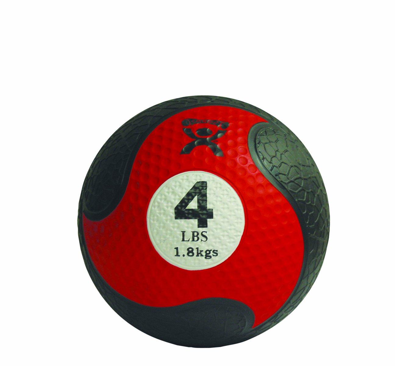 CanDo Rubber Medicine Ball, Red