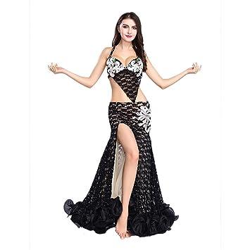 ROYAL SMEELA Falda Flamenca Mujer Sujetador Falda Danza del ...