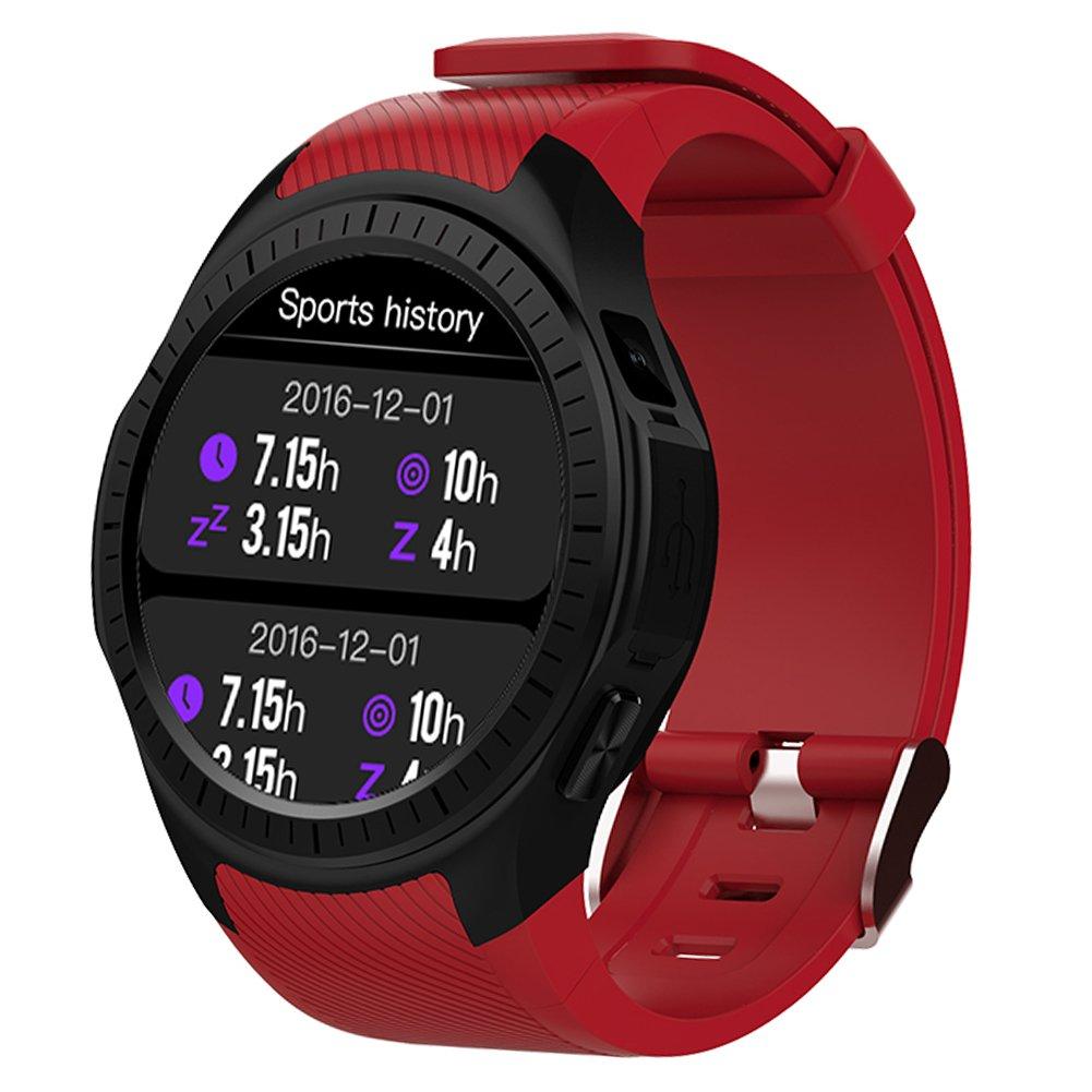 Kivors Reloj Inteligente L1 Bluetooth Smartwatch 1.3 Pulgadas Redondo HD IPS Pantalla Soporte SIM/TF Tarjeta con Podómetro Monitor de Dormir y Frecuencia ...