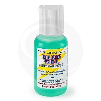 Amazoncom Lidocaine Blue Gel Tattoo Numbing Topical Anesthetic