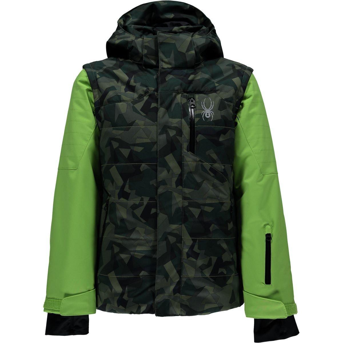 Spyder Kids  Boy's Axis Jacket (Big Kids) Mini Camo Guard/Fresh/Black 12