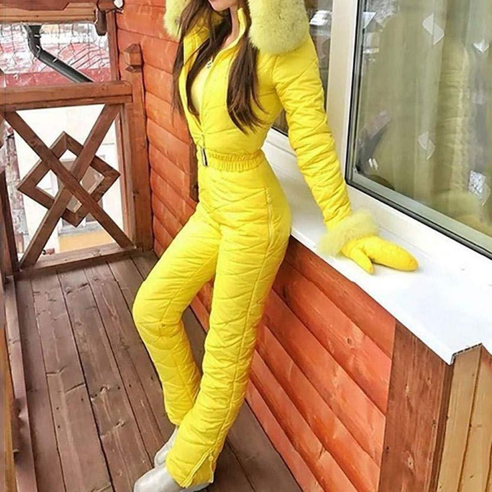 LIJUMN /Tuta da Sci da Donna Tuta da Sci Invernale Calda per Donna Pantaloni Sportivi allaperto Tuta da Sci Tuta Impermeabile Completa