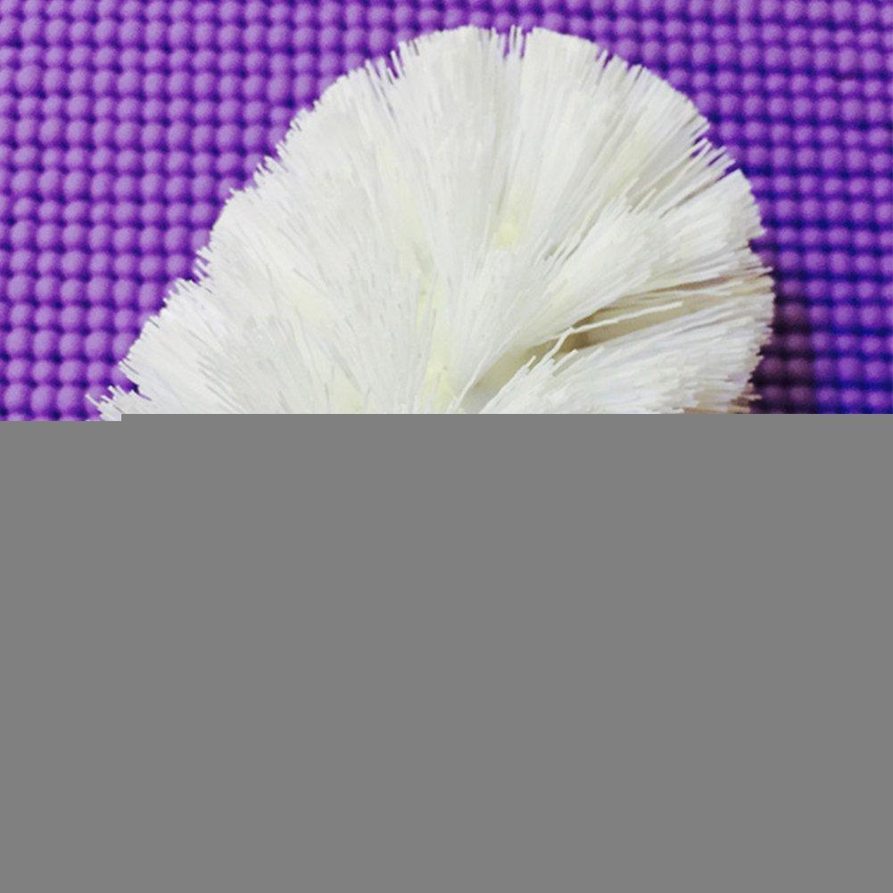 Soporte para escobilla de inodoro 80*95mm dise/ño Inter Reemplazo para ba/ño Escobillero Cepillo de limpieza Cabeza para inodoro blanco