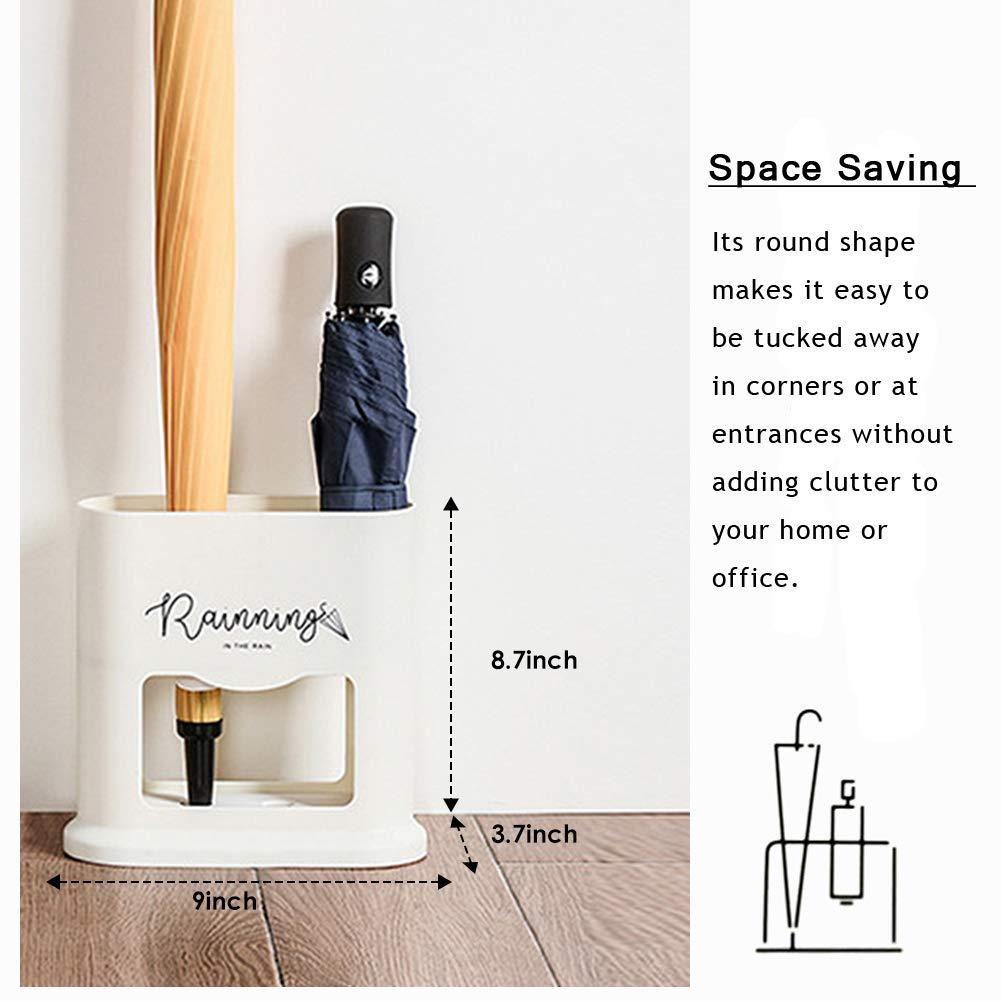 Coche se Puede Utilizar en Interiores para Paraguas Largo//Corto Pasillo Parag/üero Ovalado con Bandeja para Goteo de diatomita extra/íble Organizador de Ahorro de Espacio Exteriores etc.