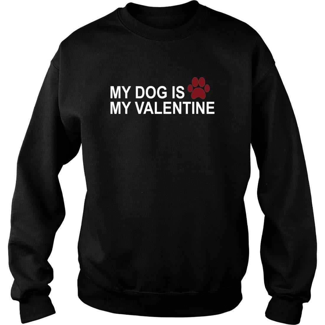 8eaabe81506c Amazon.com: Bama Proud My Dog is My Valentine Sweater (Unisex) Anti Valentines  Day Dog Lovers Sweatshirt Gifts Black: Clothing