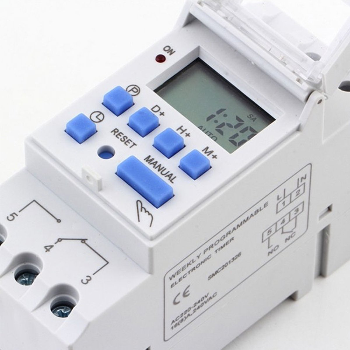 Amazon.com: THC15A Digital LCD DIN Programmable Weekly Rail Timer AC 220V 25A Time Relay Switch: Kitchen & Dining