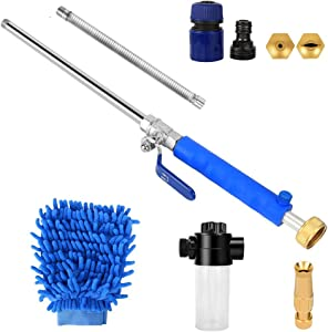 Kansing High Pressure Power Washer Wand Attachments,Gutter Cleaning Tools,Car Pressure Washer with Magic Spray Gun,Standard Garden Hose and Spray Nozzle
