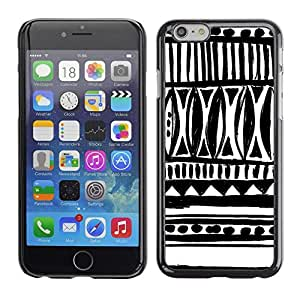 Pulsar Snap-on Series Teléfono Carcasa Funda Case Caso para Apple Iphone 6 Plus / 6S Plus ( 5.5 ) , Dibujado Arte tinta blanca Negro Chevron""