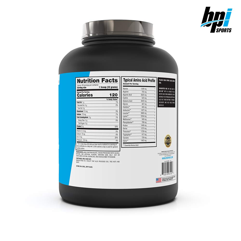 BPI Sports ISO HD 100% Protein Isolate & Hydrolysate, Chocolate Brownie, 5.4 Pound by BPI Sports (Image #8)