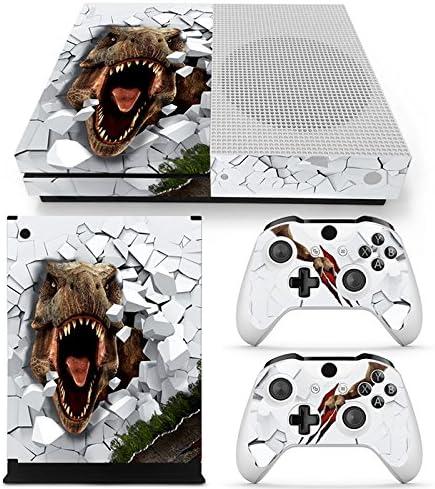 46 North Design Xbox One S Pegatinas De La Consola T-Rex + 2 Pegatinas Del Controlador: Amazon.es: Videojuegos