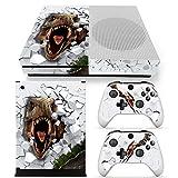 ZoomHit Xbox One S Console Skin Decal Sticker T-Rex Dinosaur + 2 Controller Skins Set