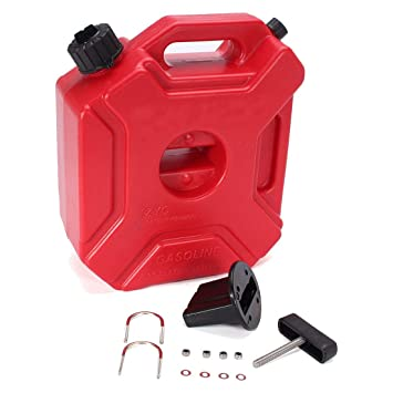 Plastic Gas Cans >> Toogoo 5l Plastic Jerry Cans Gas Fuel Tank Suv Motorcycle Mounting Kit
