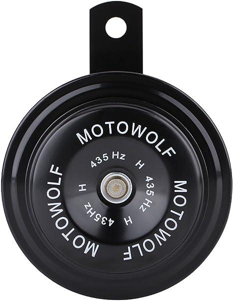 Qii lu Universal Motorcycle Electric Loud Horn Siren 12V 110DB Waterproof Round Horn Speaker