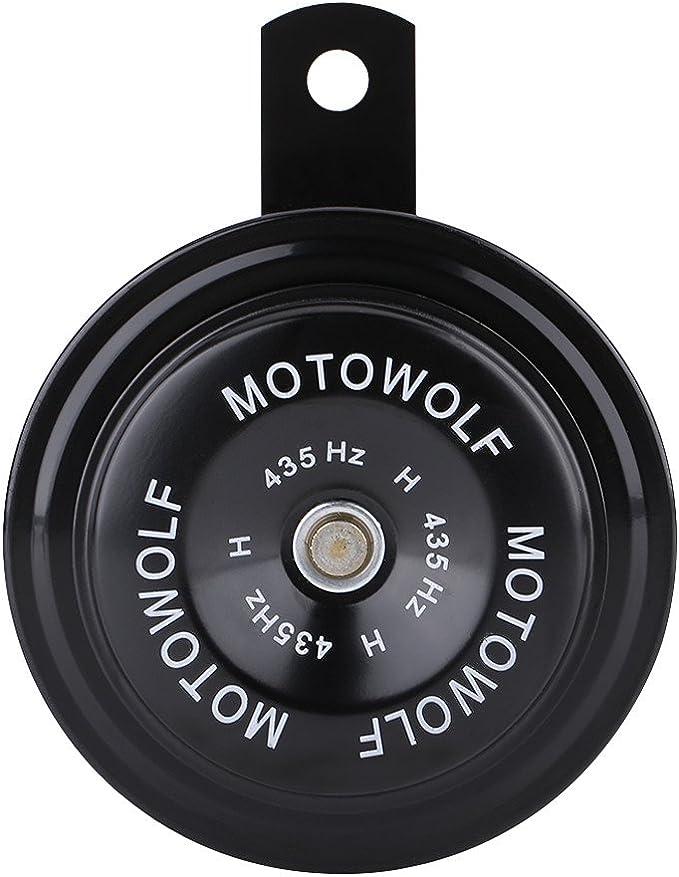 Broco 12V 110dB 435Hz-Motorrad-Auto laut Elektro-Schnecke Horn Lautsprecher Wasserdicht Metall schwarz
