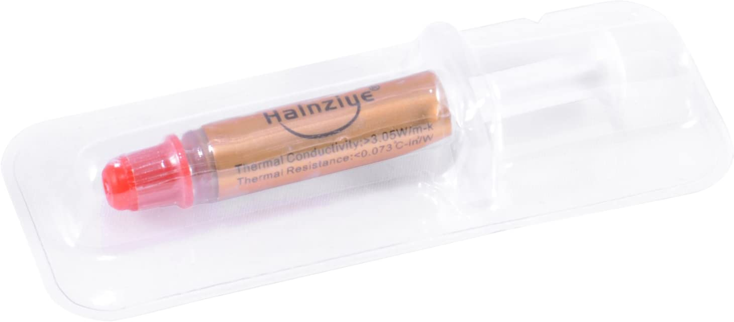 High Performance Gold Thermal Grease CPU Heatsink Compound Paste Compact Syringe