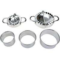 LICTOP Stainless Steel Dumplings Maker Set(2 Sizes Dumpling Molds, 3 Sizes Dumpling Skin Maker)
