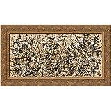 Autumn Rhythm (Number 30) 24x17 Gold Ornate Wood Framed Canvas Art by Pollock, Jackson