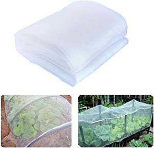 YBB 9.8'x6.6' Bug Insect Garden Barrier Netting Plant Cover, Thicken Mosquito Bird Screen Hunting Blind Garden Mesh Net for Protect Plant Fruits Flower