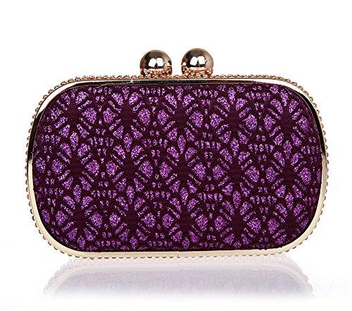 Borsa di pizzo mini/Ladies strass clutch bag/ borsa da sera moda-D D